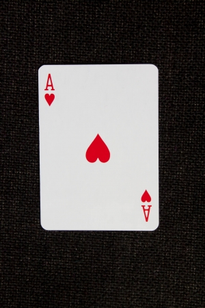 Ace of hearts playing card photo