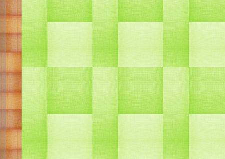 Seamless green fabric texture background photo