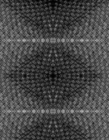 rattan mat: abstract black texture - seamless pattern