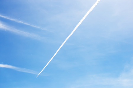 contrail: contrail in the blue sky