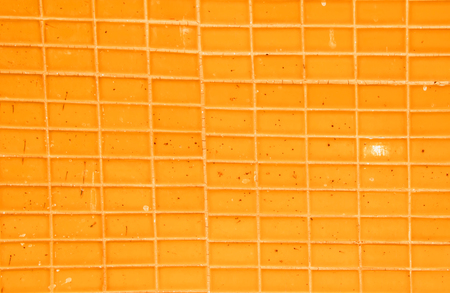orange tiled floor background