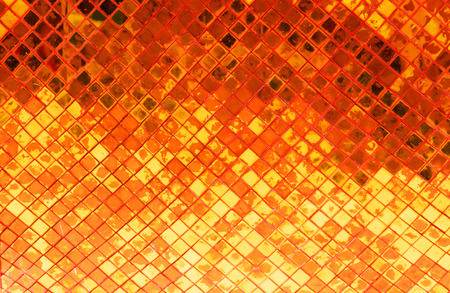 grunge golden mosaic, Copper background