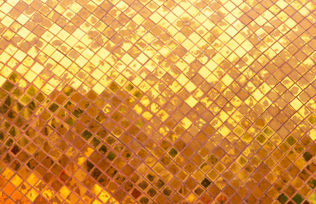 gold tiles texture Stock Photo
