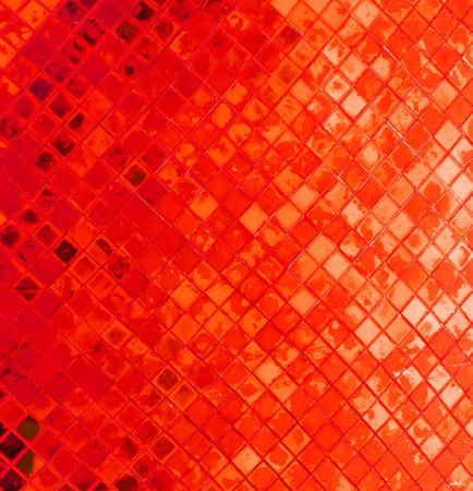 red background from tile mosaic
