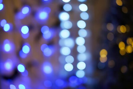 Image of abstract bokeh background of resturant lights concept, space for text.