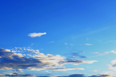 Blue sky with cloud for texture and background. Relaxation or freedom concept.