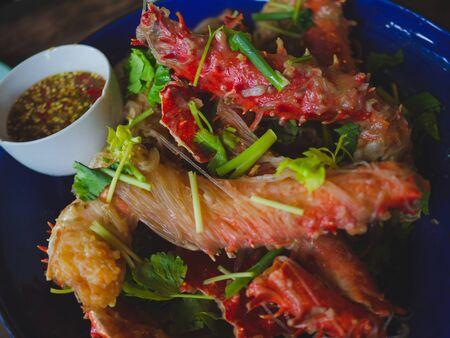 Alaska Crabs Baked Vermicelli, Famous Thai food menu,