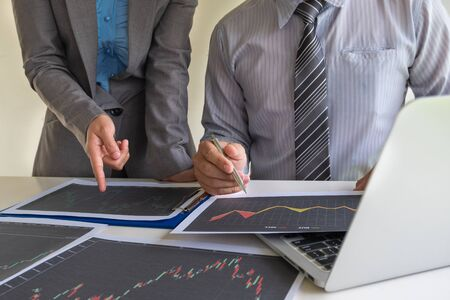 A team of business executives are planning consultations about business investments related to shares. By analyzing and calculating the stock market to find marketing profits.