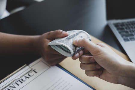 The owner's business offers and gives money to his partners for bribery and corruption. The concept of bribery and corruption.