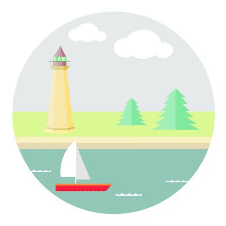 clound: on the sea Illustration