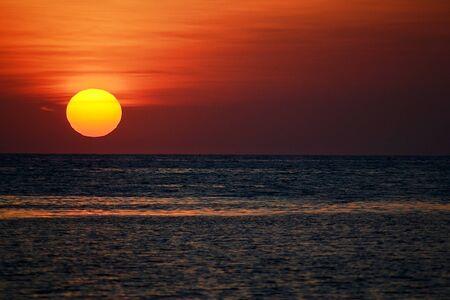Sunset on the sea of   8203;  8203;marzamemi Stock Photo