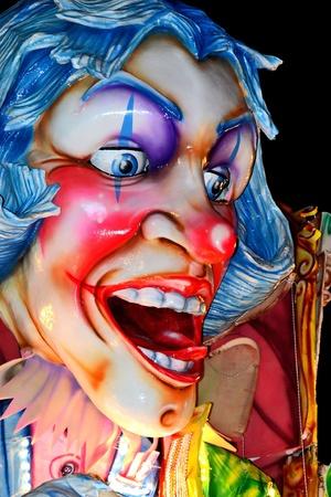 first floor of a clown mask