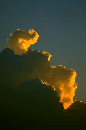 Clouds at sunset photo