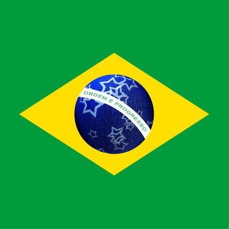 Brazil - Christmas - cards - Christmas blue ball Stock Photo