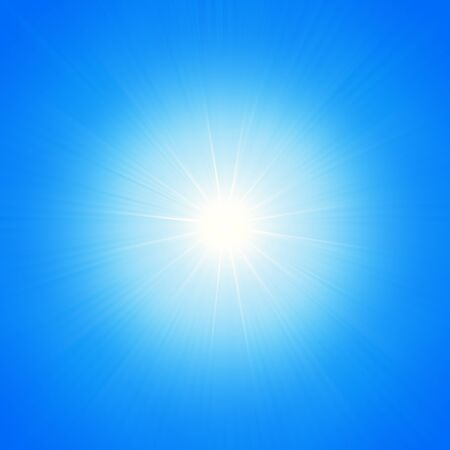 Star of light on a blue background