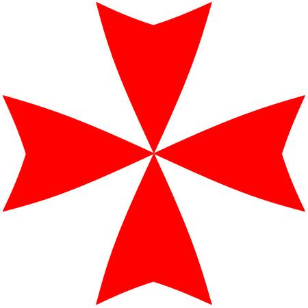 Croce Cavalieri di Malta Archivio Fotografico - 41989955