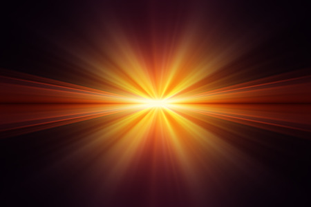 glimmering: Explosion of yellow light on black