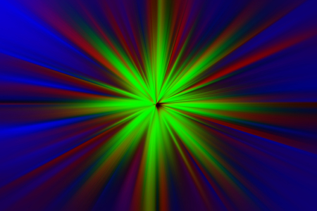 teleportation: Glow of multicolored light faded Stock Photo