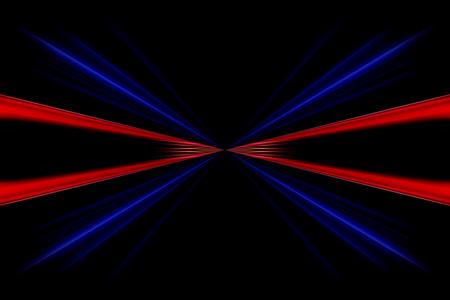 Linee rosse e blu infinito su uno sfondo nero. Archivio Fotografico - 45019268