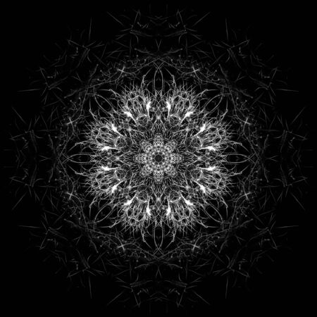 article of furniture: Digital flower - monochrome