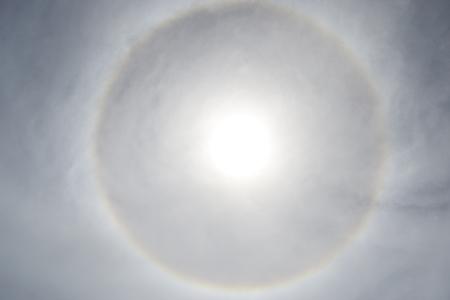 Circle of light around the sun Archivio Fotografico - 120762662