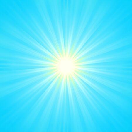 sunburn: Illustration of a radiant sun