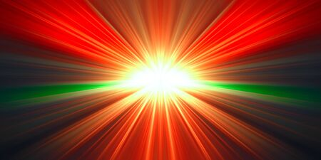 rafter: containing illustration of rays of red light and green on a black background