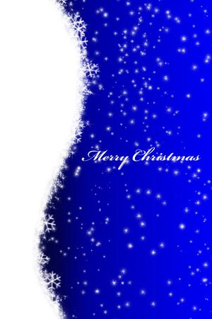 Christmas postcard with tree Stock Photo