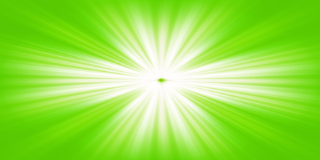containing illustration of white light rays on a green background Stock Photo