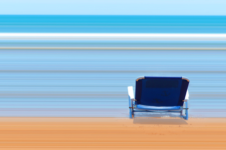 imagining: Beautiful landscape abstract imagining a beautiful blue sea with crystalline sand.