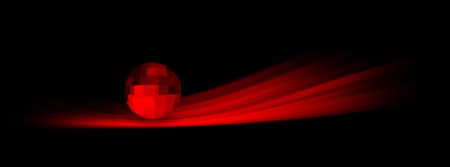 A trail of red light that welcomes a red sphere