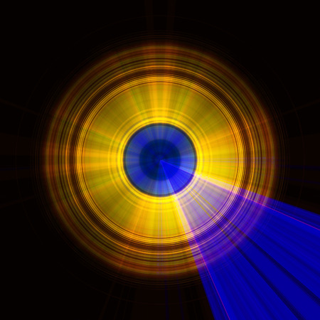 blue and red yellow circular light Imagens