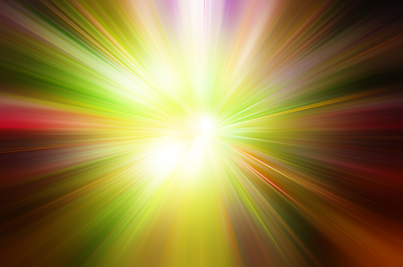 red yellow green colored light explosion Imagens