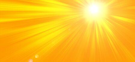 Sunny summer background with the bright sun on an orange background Reklamní fotografie