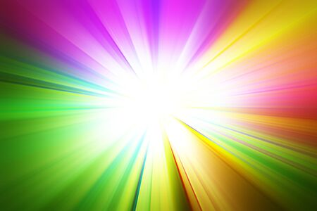 A bright rainbow burst on a radial gradient background. illustration
