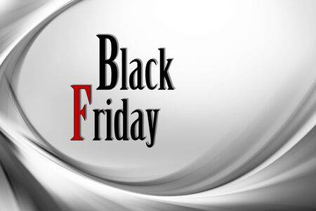 Illustration with various shades of gray with black friday written