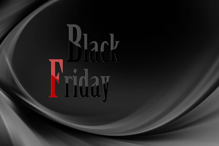 Illustration with various shades of gray and black with black Friday written Zdjęcie Seryjne - 131994570