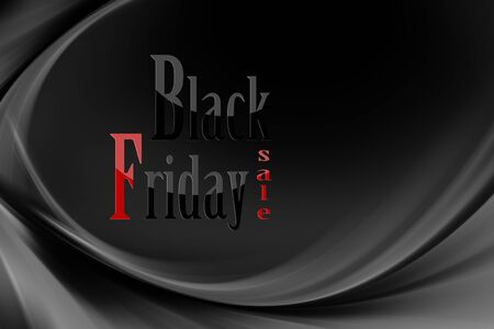 Illustration with various shades of gray and black with black Friday written Zdjęcie Seryjne - 131994230