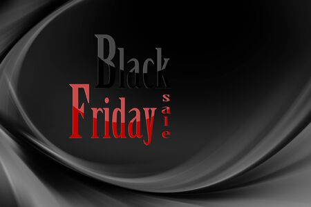 Illustration with various shades of gray and black with black Friday written 写真素材