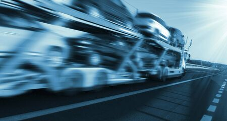 Trucks for freight transport on the road