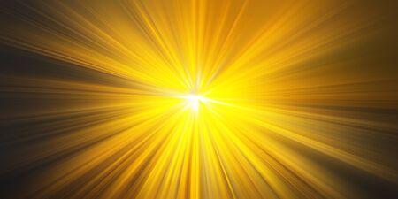 Light rays _ Golden yellow rays of light Stockfoto