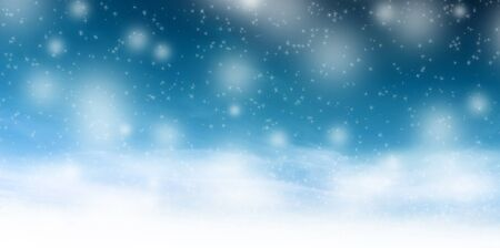Christmas winter illustration with stars and snowflakes Stock Photo