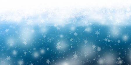 Christmas winter illustration with stars and snowflakes Stock Illustration - 132227898