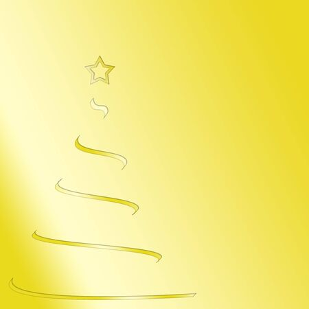 Stylized Christmas tree on a yellow background Stock Photo - 131693899