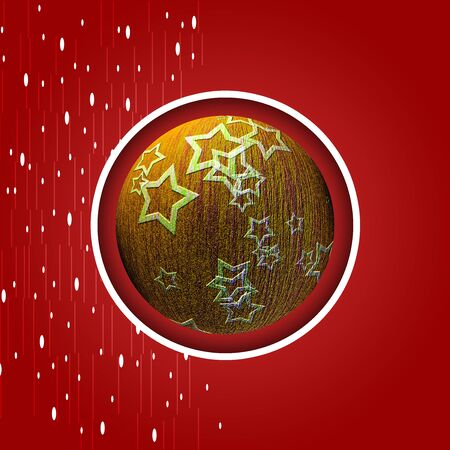 Artistic Christmas card with the image of Christmas balls Archivio Fotografico
