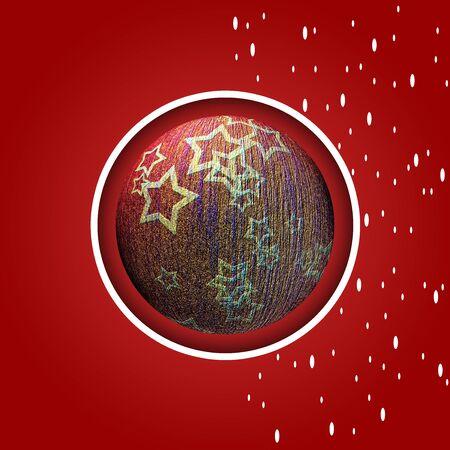 Artistic Christmas card with the image of Christmas balls Stock Photo - 132228124
