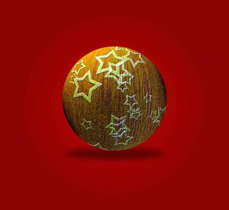 Artistic Christmas card with the image of Christmas balls Stock Photo