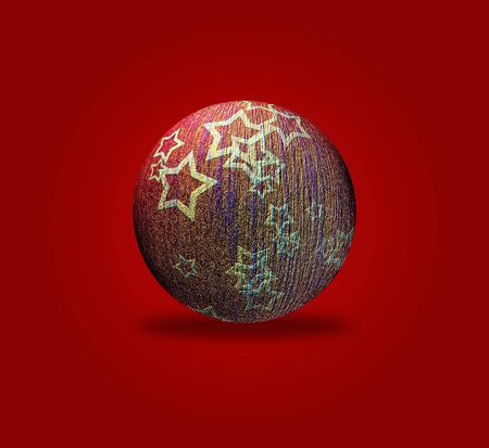 Artistic Christmas card with the image of Christmas balls Stock Photo - 132228125