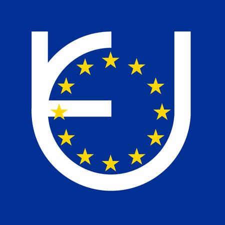 EU logo with stars on a blue background