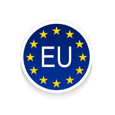EU logo with stars on a white background